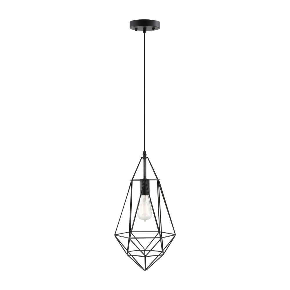 Lámpara colgante decorativa 60w 1luz e27 negra