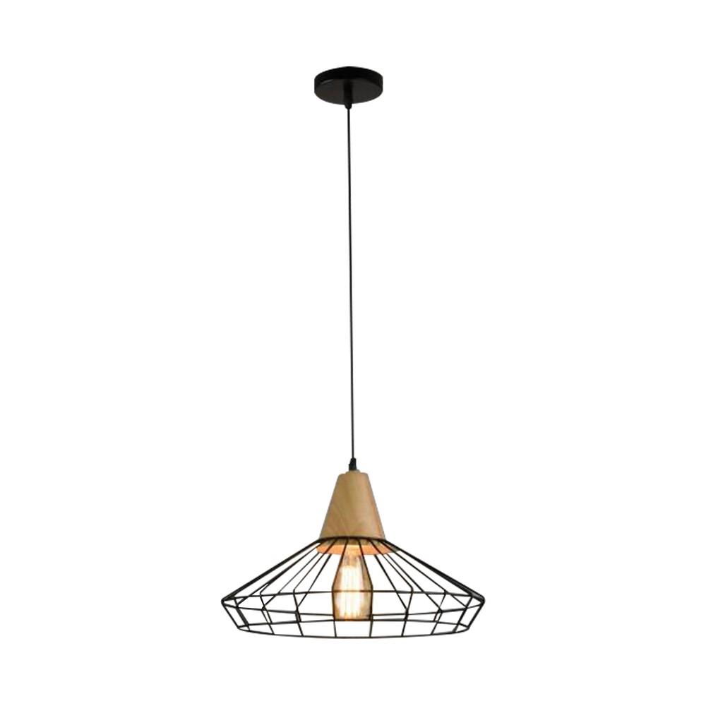 Lámpara colgante decorativa 1luz e27 negra