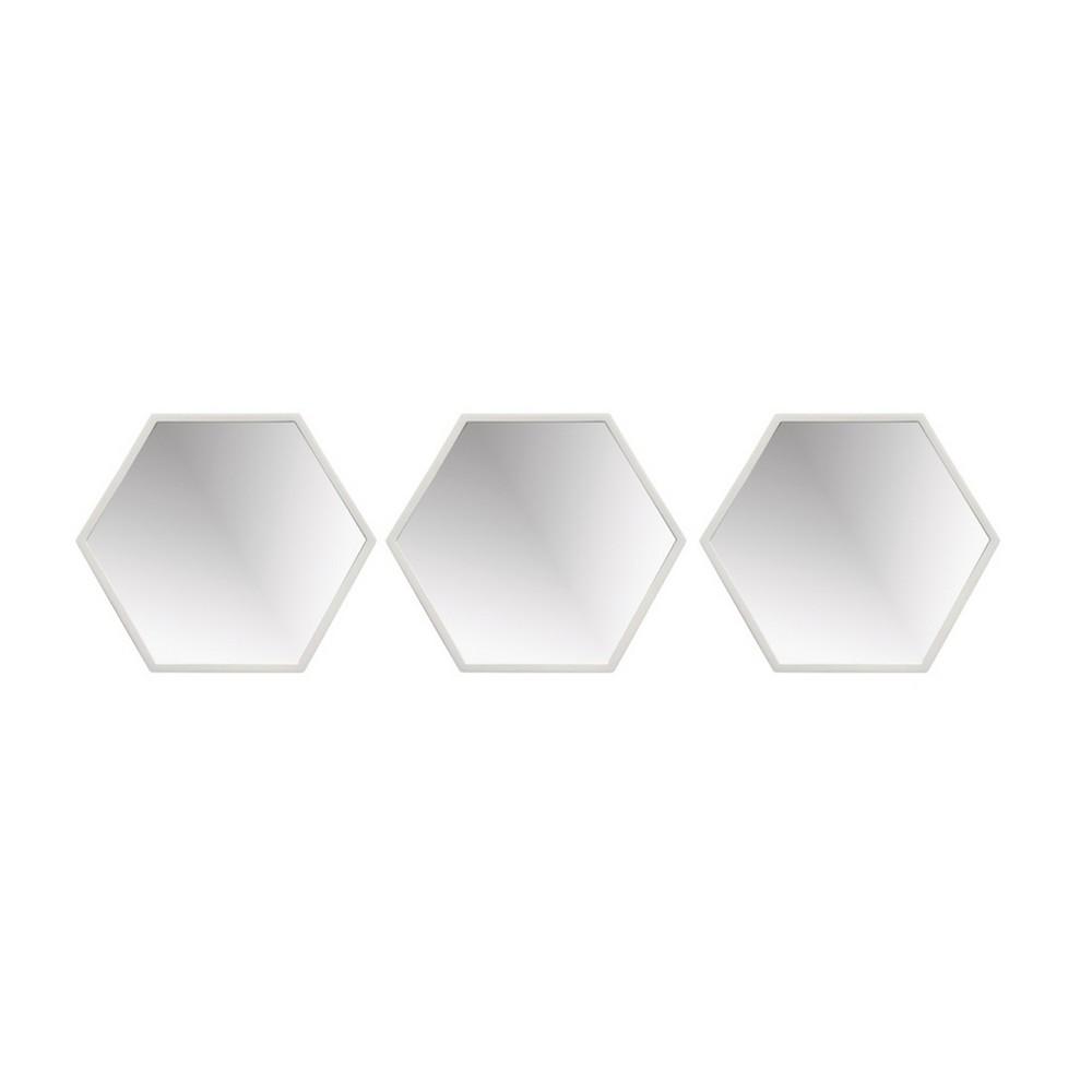 Set de espejos decorativos hexagonales 3 pzas