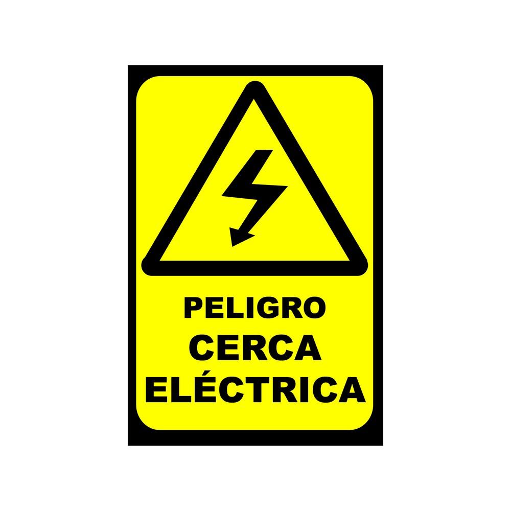 Rótulo peligro cerca eléctrica 20 x 30 cm