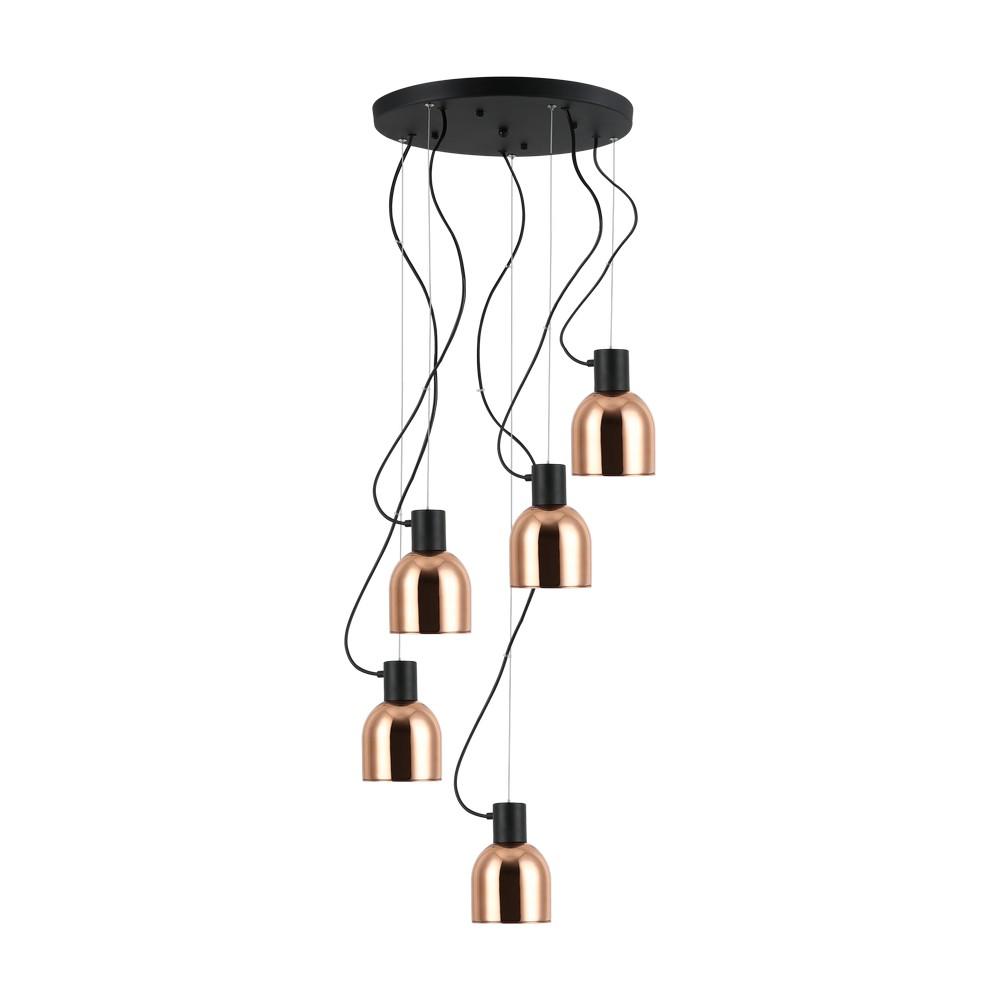 Lámpara colgante decorativa 60w 5luces e27 bronce