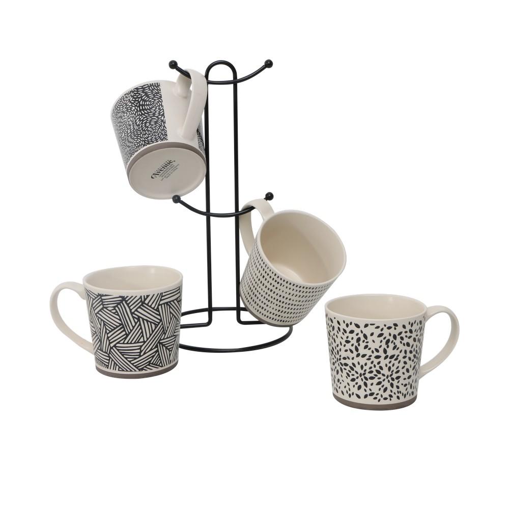 Set de taza con organizador 5 pzas