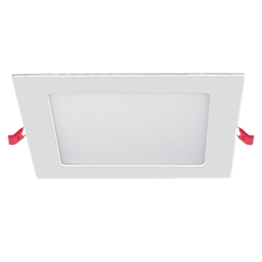 Panel led cuadrado de empotrar 6w luz amarilla 120x10 mm