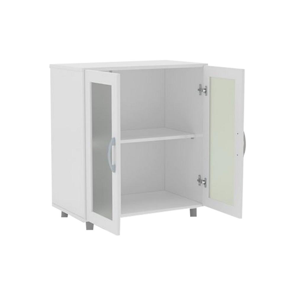 Mueble multiusos con puertas 74 x 66 x 39 cm blanco