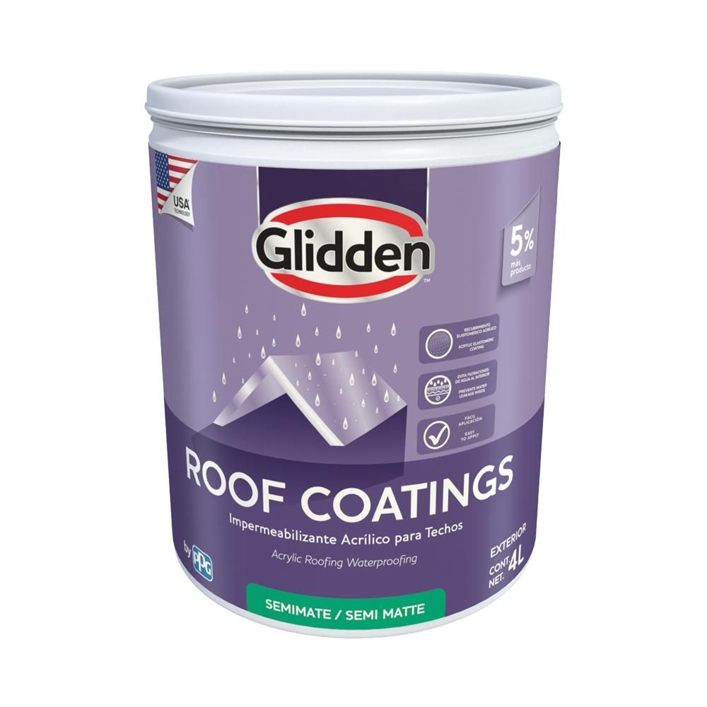 Impermeabilizante para techo roof coating blanco 4 ltrs