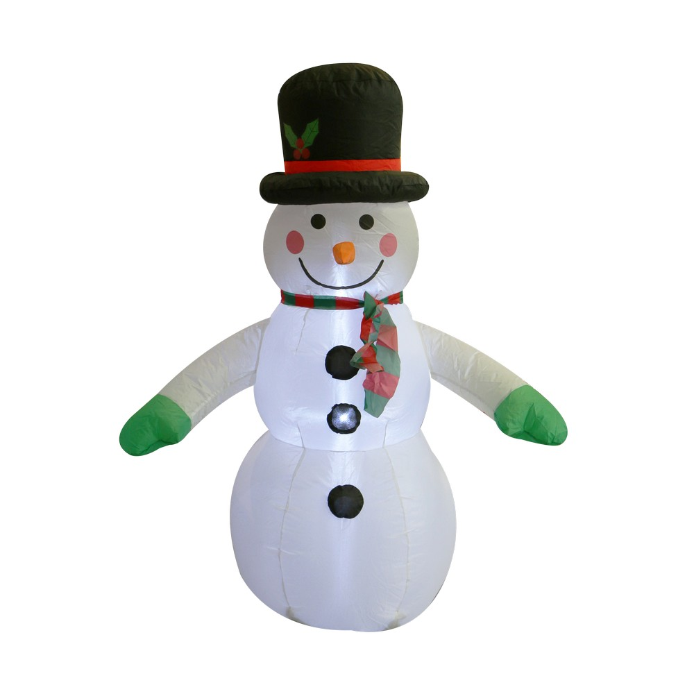 Inflable muñeco de nieve 1.21mts