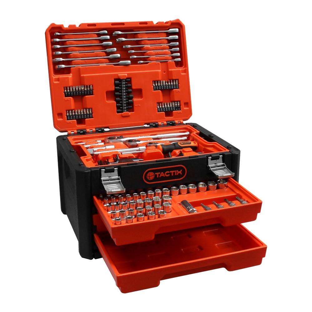 Juego de cubos mm y pulg mandos 1/4 3/8 y 1/2 254 piezas