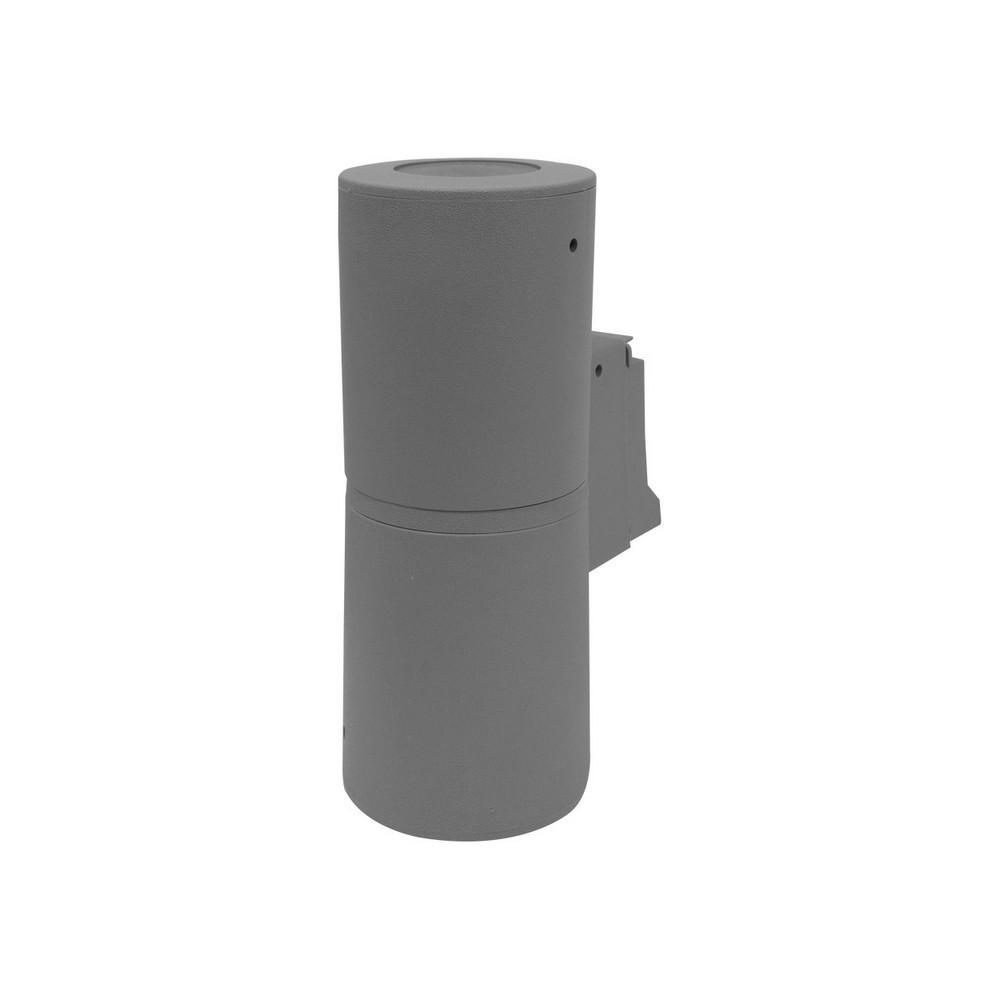 Lámpara de pared led exterior 2l 12w gu10 franca 90 grey