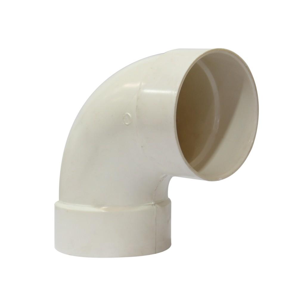 Curva pvc a 90º de 4 pulg para drenaje