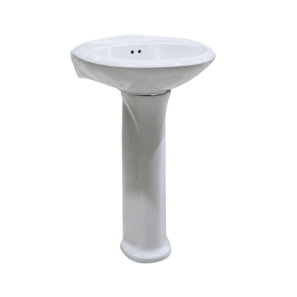 Lavamano olympus blanco con pedestal sin accesorios