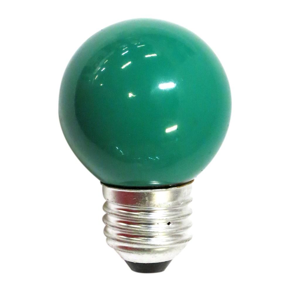 Foco incandescente 15w e27 verde
