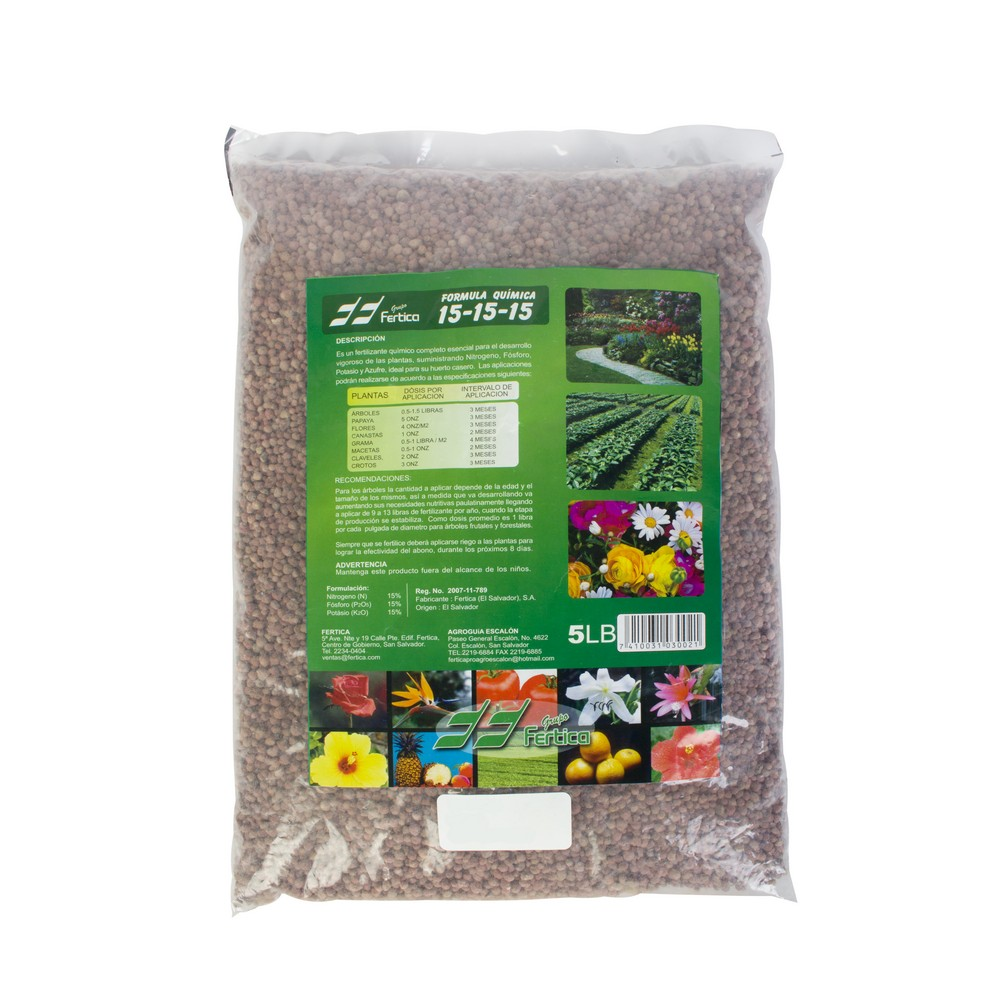 Fertilizante triple 15 de 5 lb