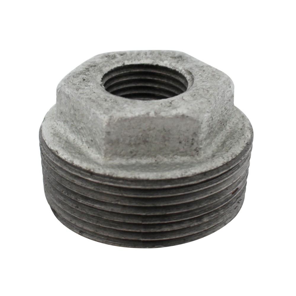 Bushing galvanizado de 1-1/2 a 1/2 pulg