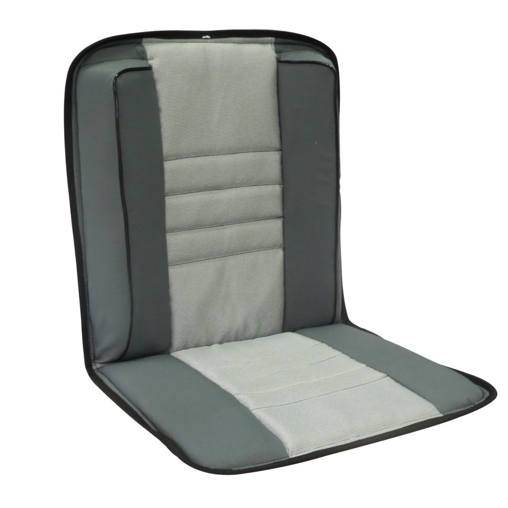 Respaldo gris de tela para asiento de carro