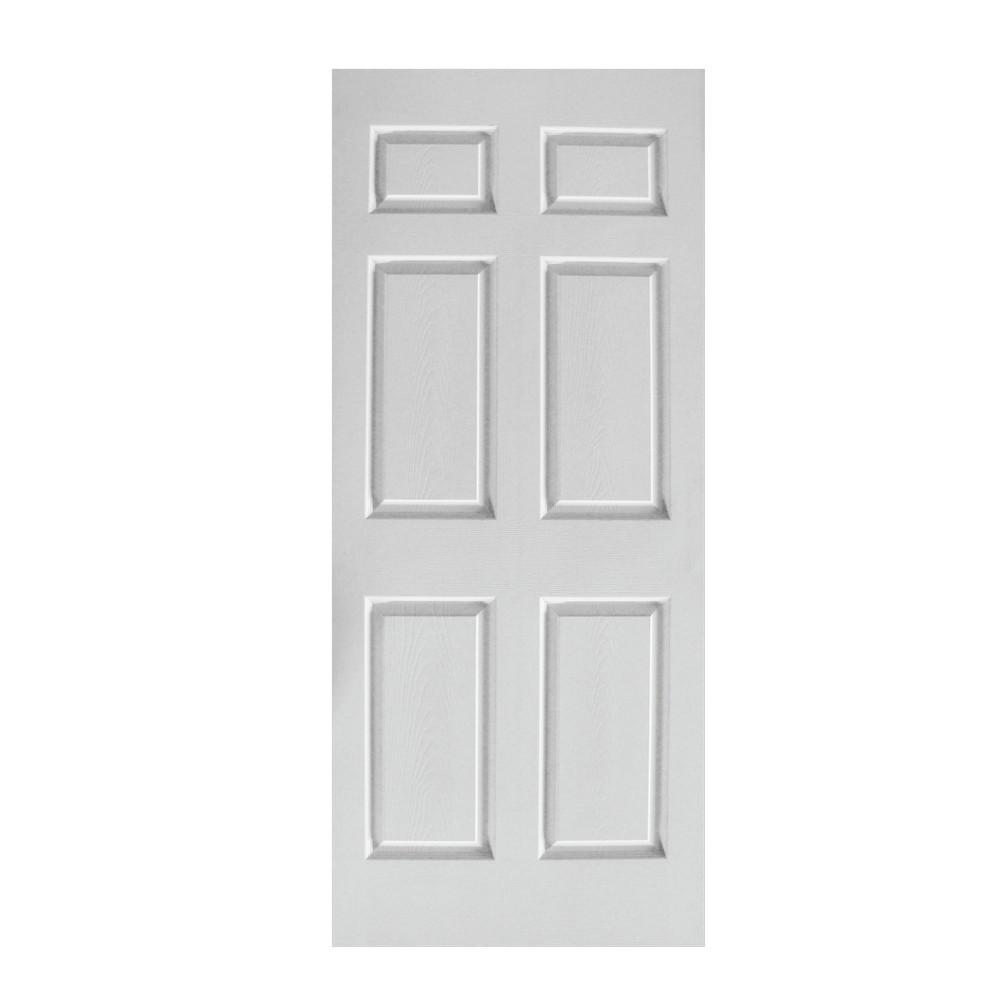 Puerta de metros de 6 tableros puertas for Puertas de madera blancas para exterior
