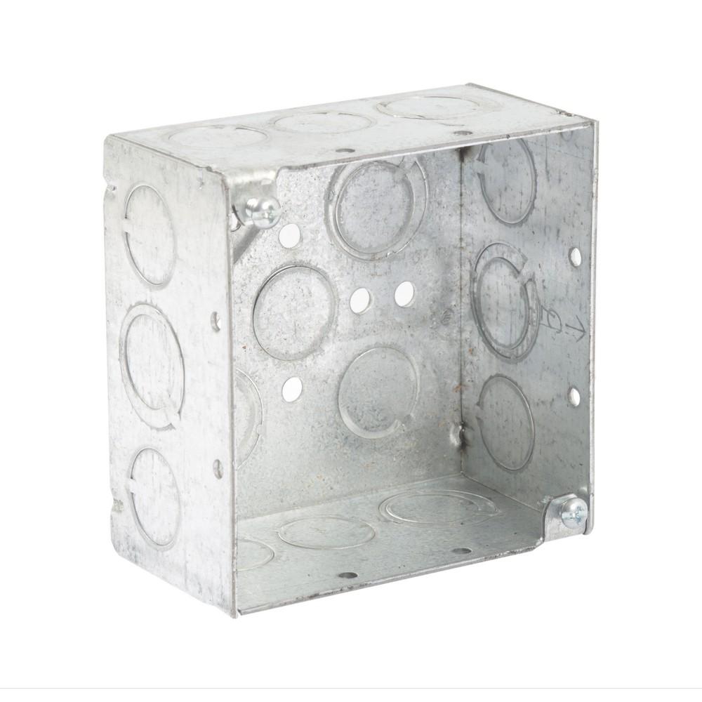 Caja cuadrada de 4x4 pulgadas doble fondo tipo pesada - Cajas ...