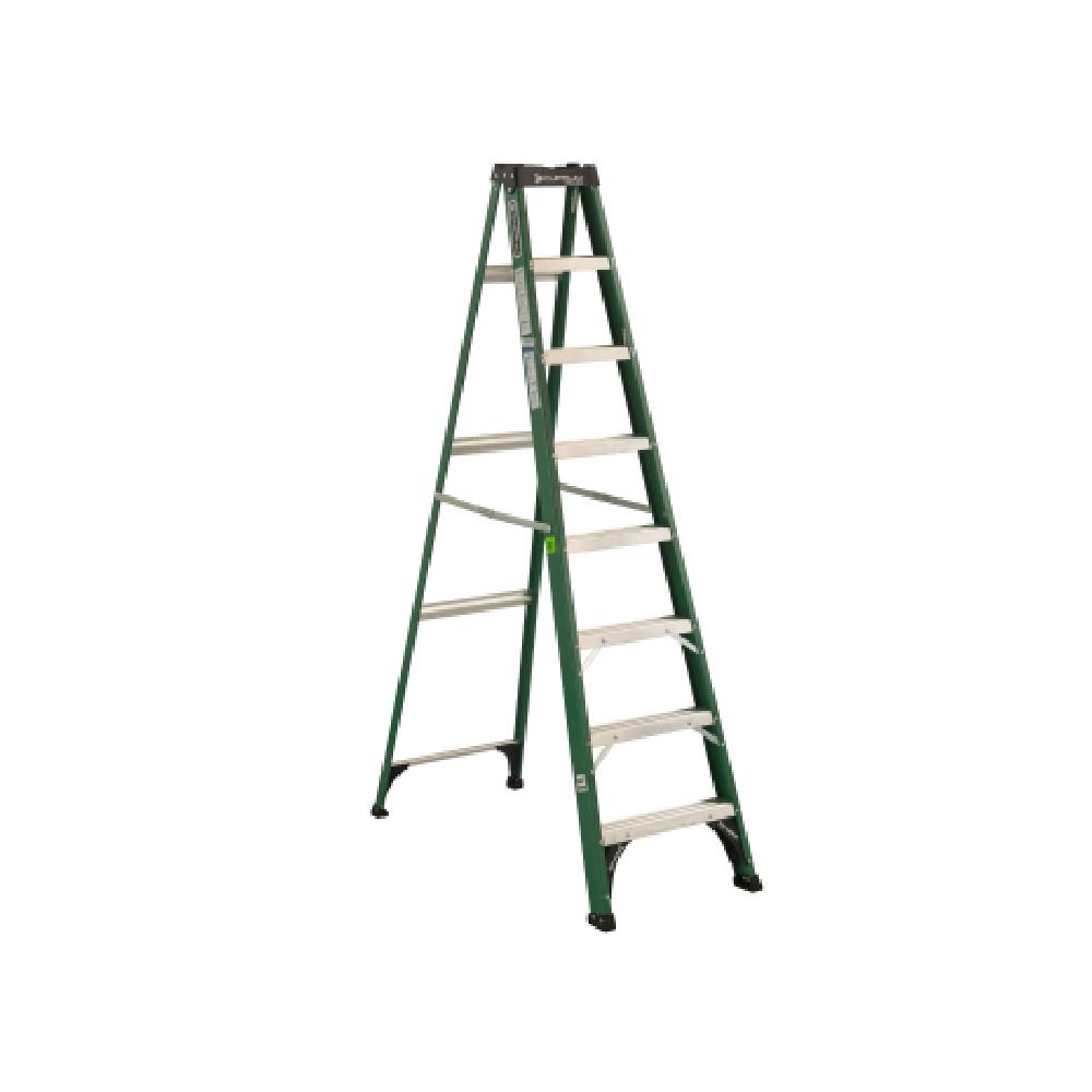 Escalera de tijera fibra de vidrio de 8 pies tipo ii 102 for Escalera 8 metros