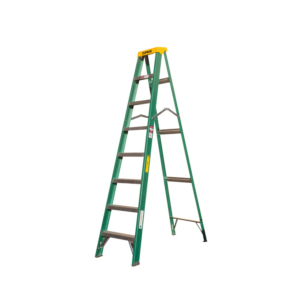 Escalera de tijera fibra de vidrio de 8 pies tipo ii 102 for Escalera telescopica tipo tijera