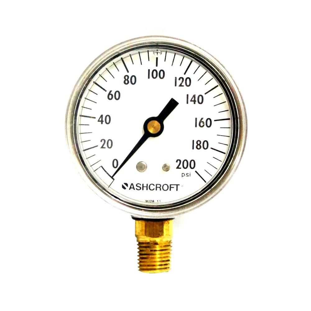 Manómetro 200 psi 2.1/2 pulg con glicerina