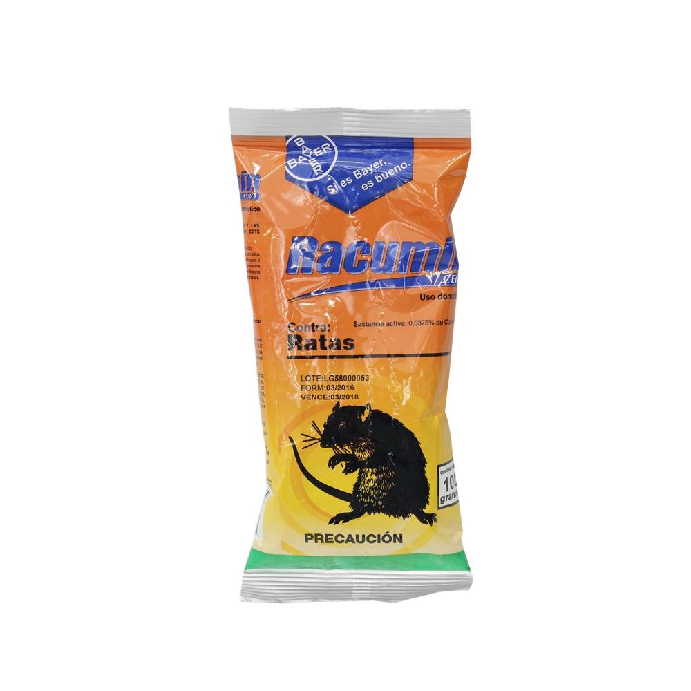 Veneno para rata de 100 grs rodenticidas racumin for Ahuyentar ratas jardin