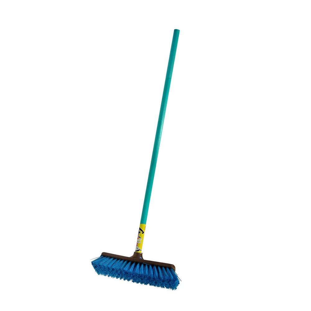 Cepillo para barrer jardin cabezal inclinado