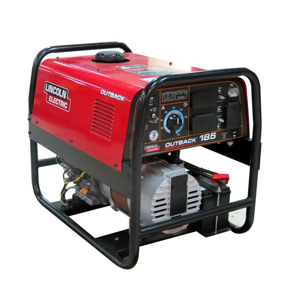 Soldador dc 145a con generador 4750 watts outback 145