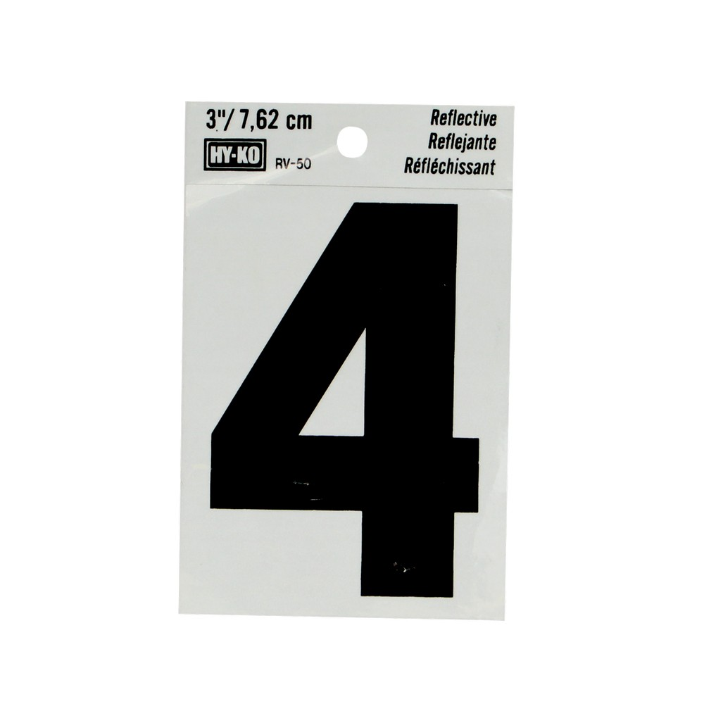 numero 4 3 reflectivo rv50 4 números hy ko