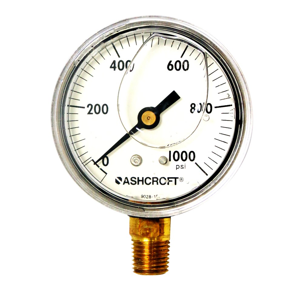 Manómetro 1000 psi 2.1/2 pulg con glicerina