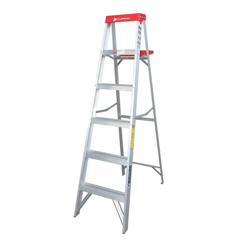 Escalera de aluminio de tijera de 6 pies
