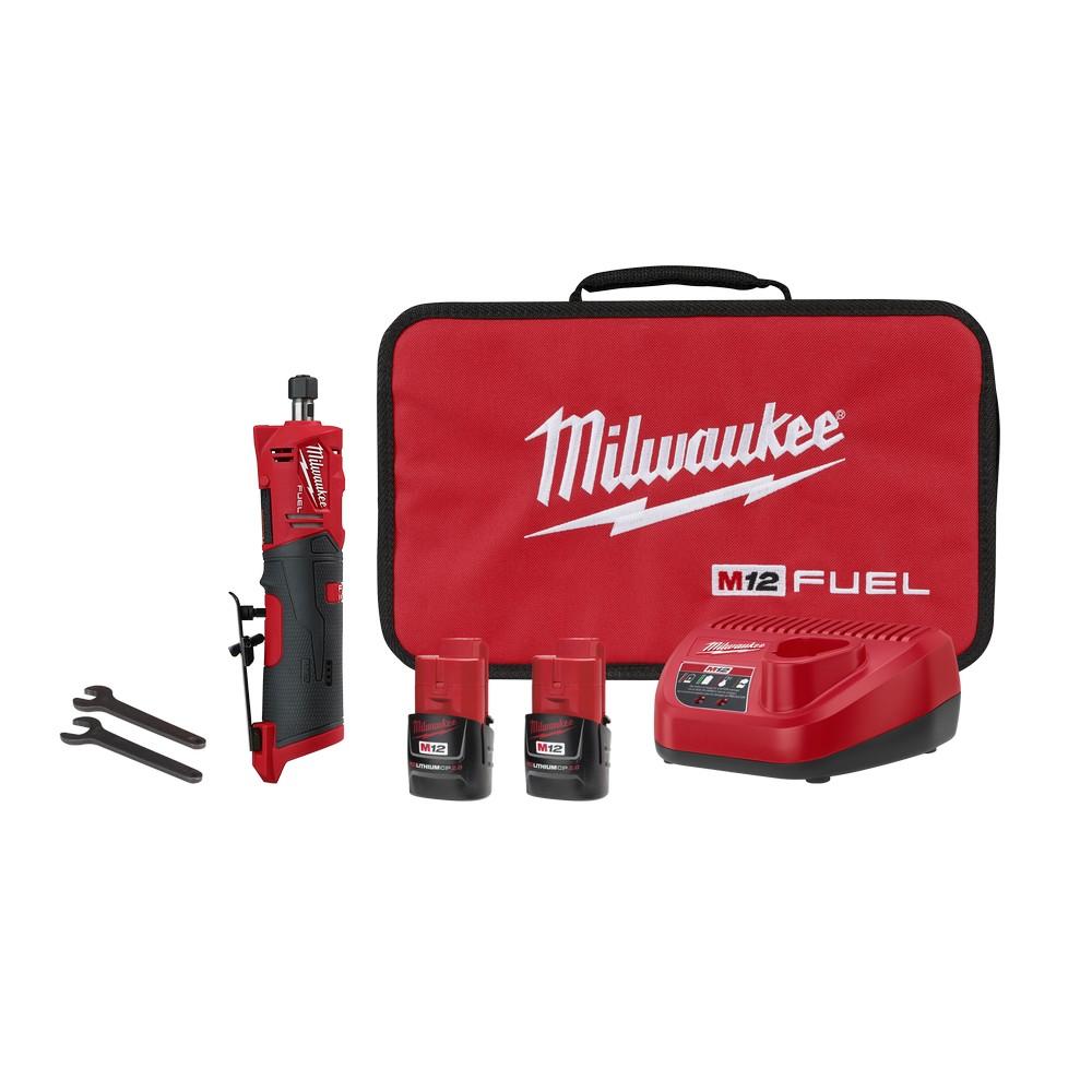 Mini esmeril 1/4 pulg recto 12v fuel 2486-22