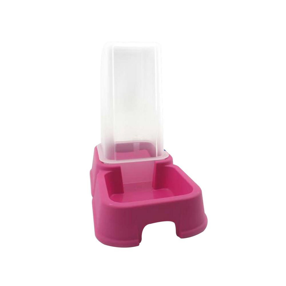 Dispensador de comida para mascota 1.5lt rosa