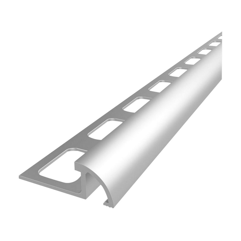 Moldura de aluminio para cerámica 12mm plata mate