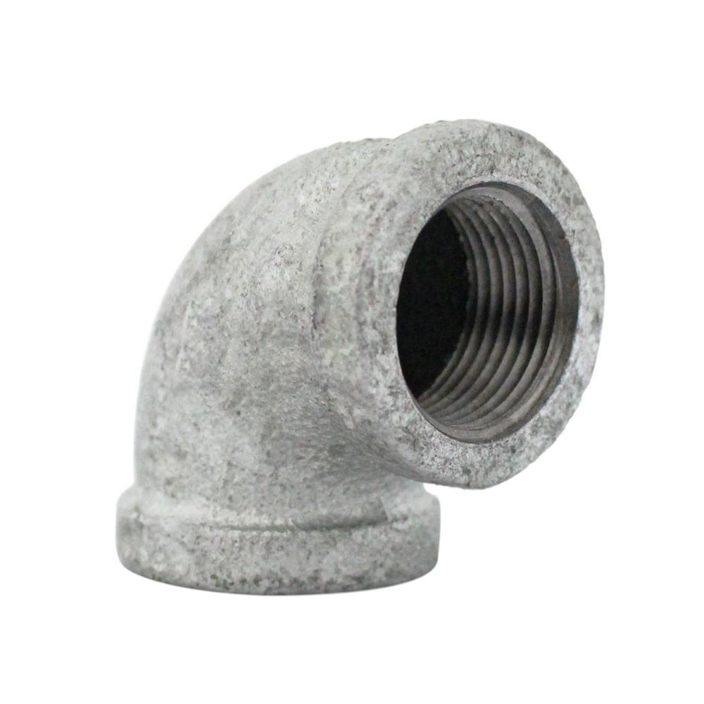 Codo galvanizado a 90° de 3/4 pulg