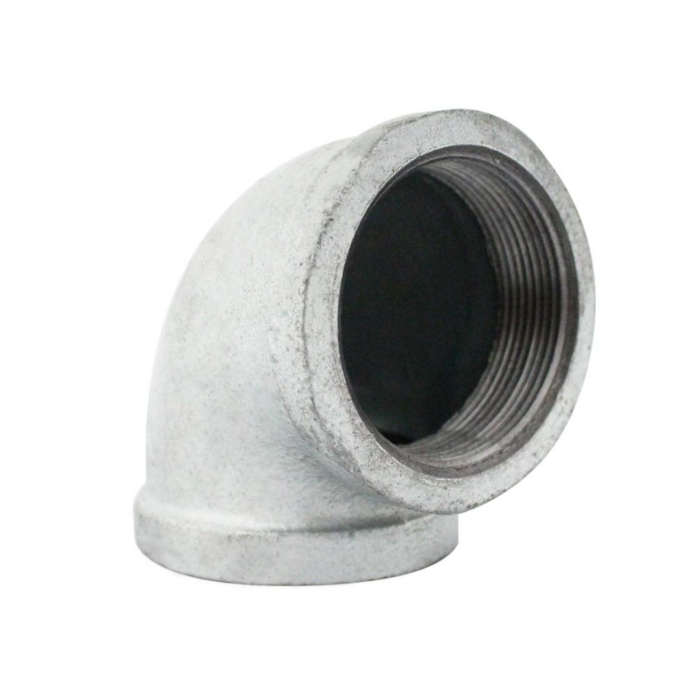 Codo galvanizado a 90° de 1-1/2 pulg