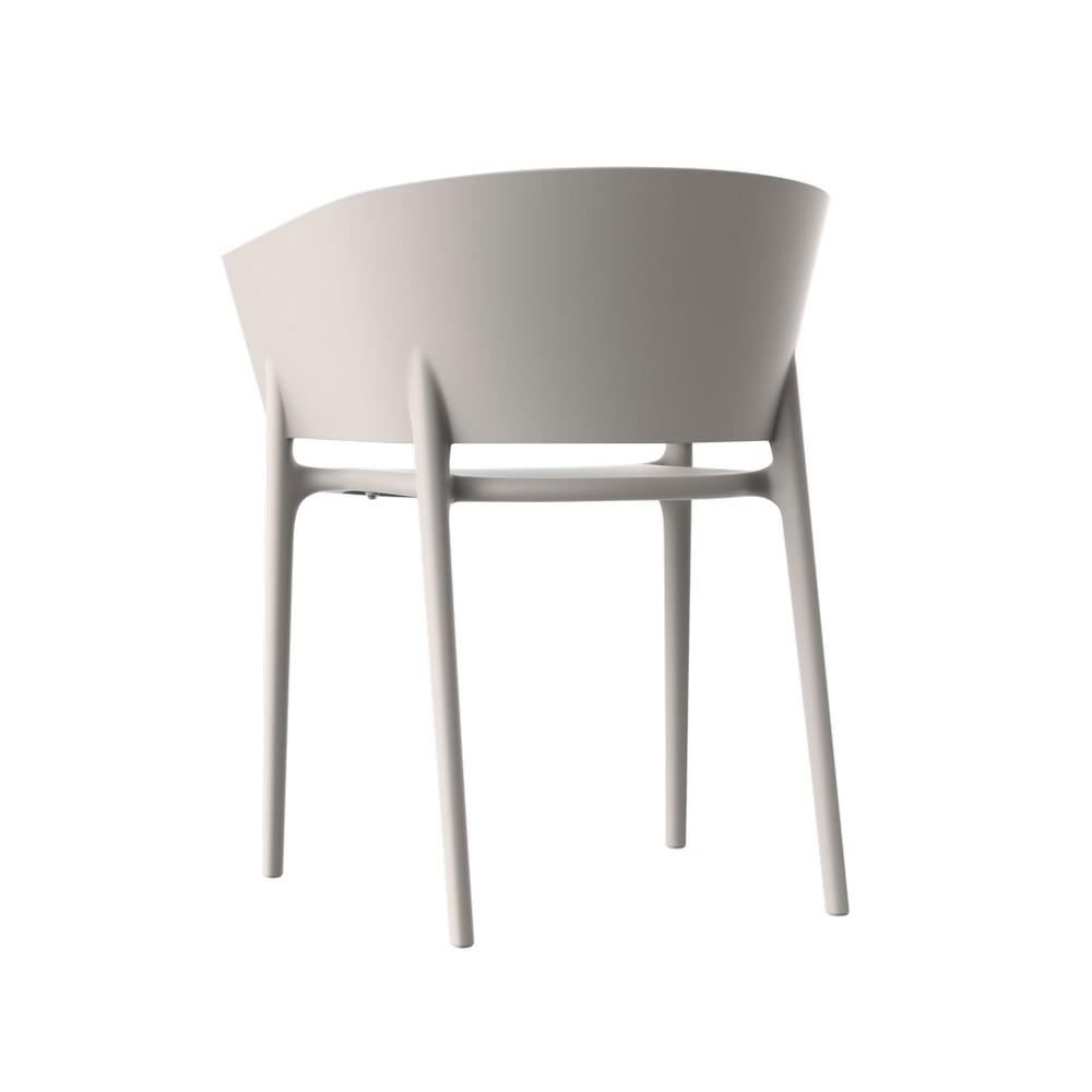 Silla plastica moderna 58x53x75cm gris africa