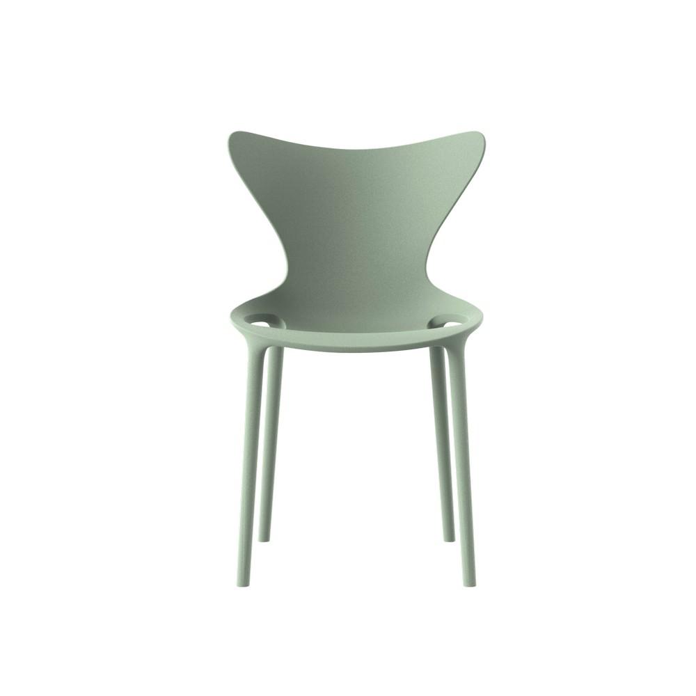 Silla plastica moderna verde love mini