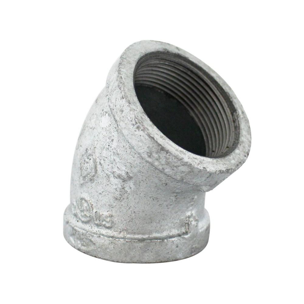Codo galvanizado a 45°de 1-1/2 pulg