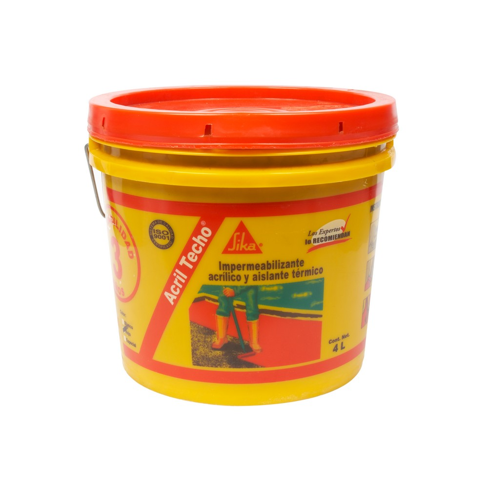 Impermeabilizante y aislante t rmico rojo for Pintura impermeabilizante sika