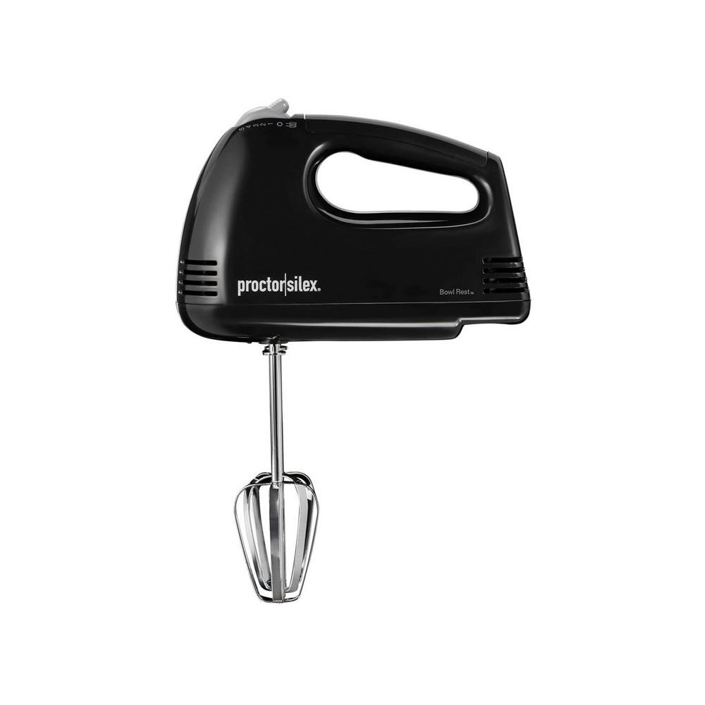 Batidora eléctrica de 5 velocidades proctor silex blanca de mano