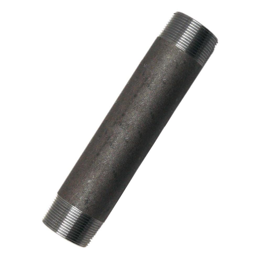Niple acero al carbón 1/2x6 pulg