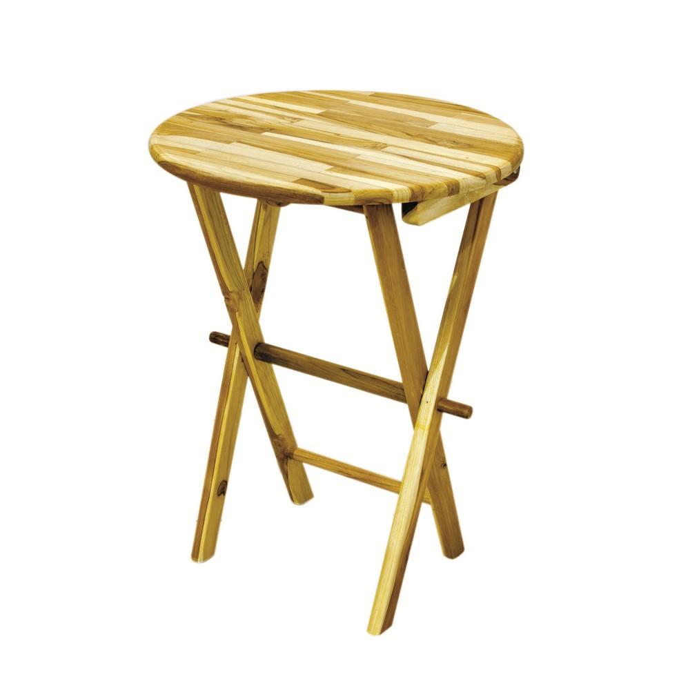 Mesa de madera redonda plegable banquitos - Mesa plegable madera ...
