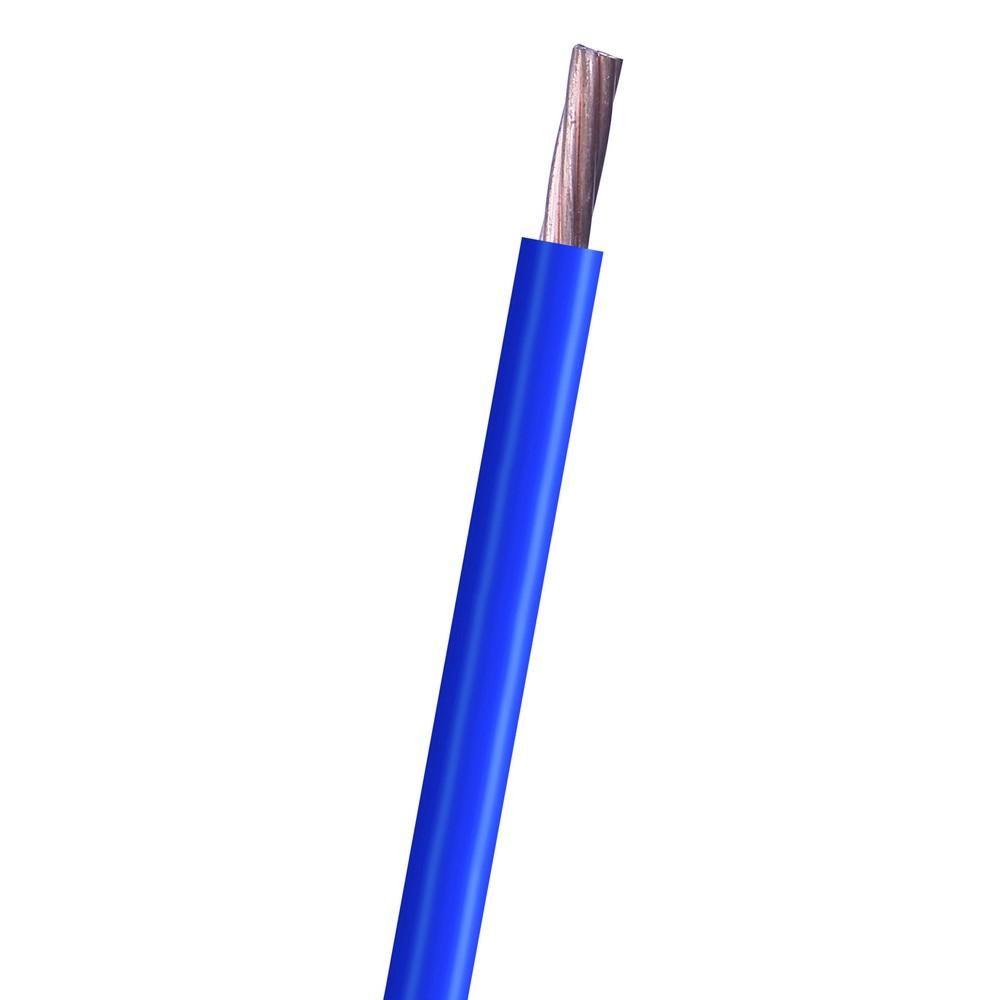 Cable electrico thhn 6 azul