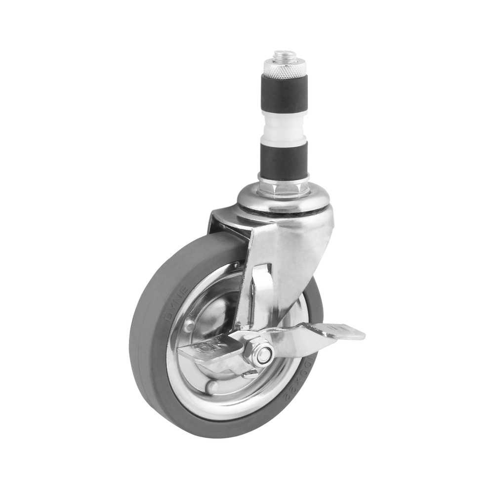 Rodo giratorio 100mm rueda de hule gris 60kg