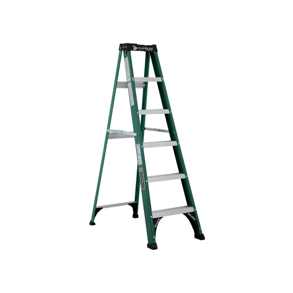 Escalera fibra de vidrio de 2 bandas tipo de 6 pies for Escalera 8 metros
