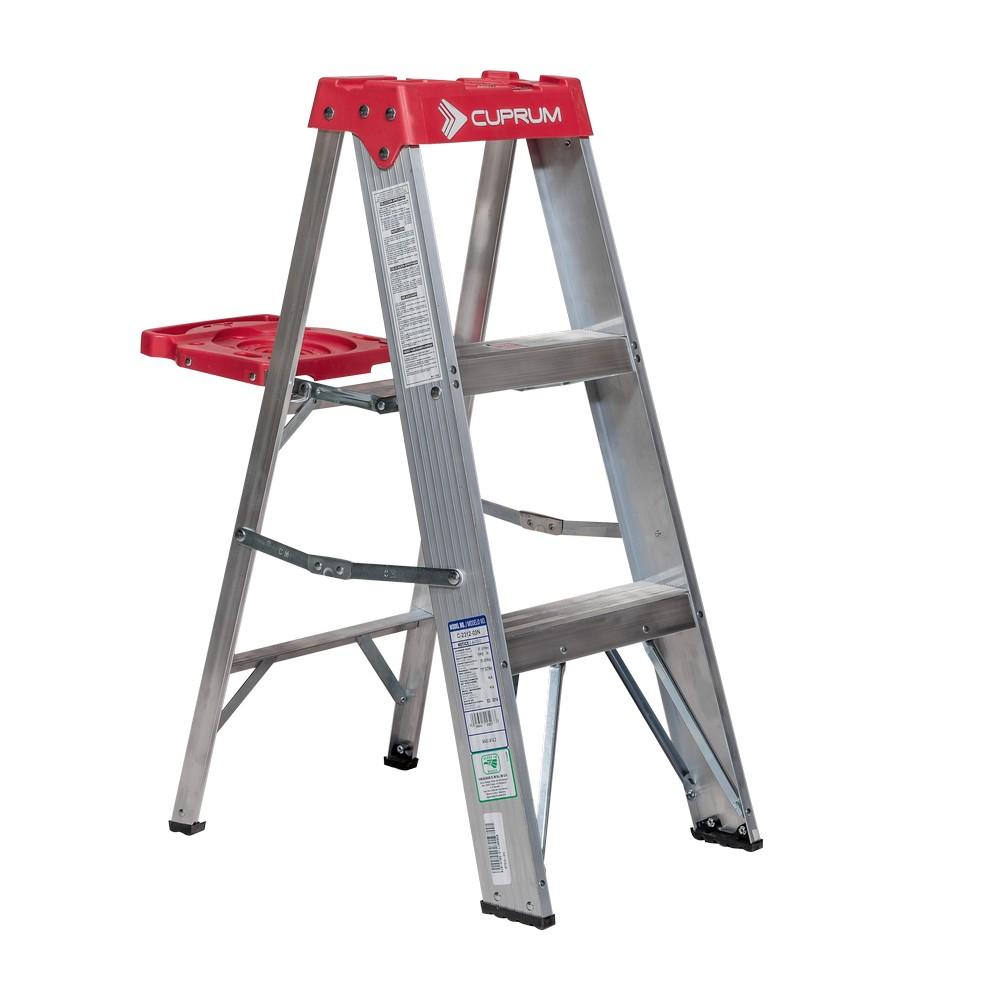 Escalera aluminio 2 bandas tipo iii 3 pies