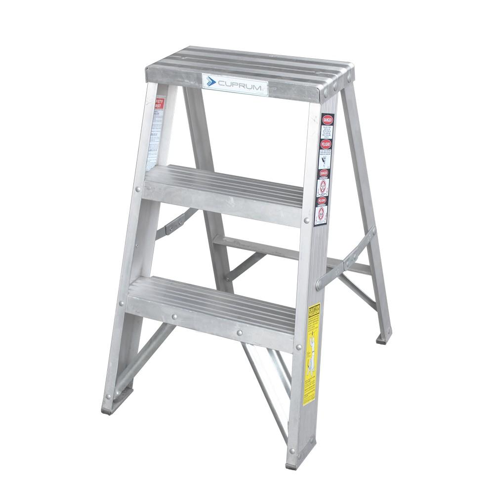 Escalera de aluminio de 2 pies de largo tipo iii 90 kgs for Tipos de escaleras de aluminio