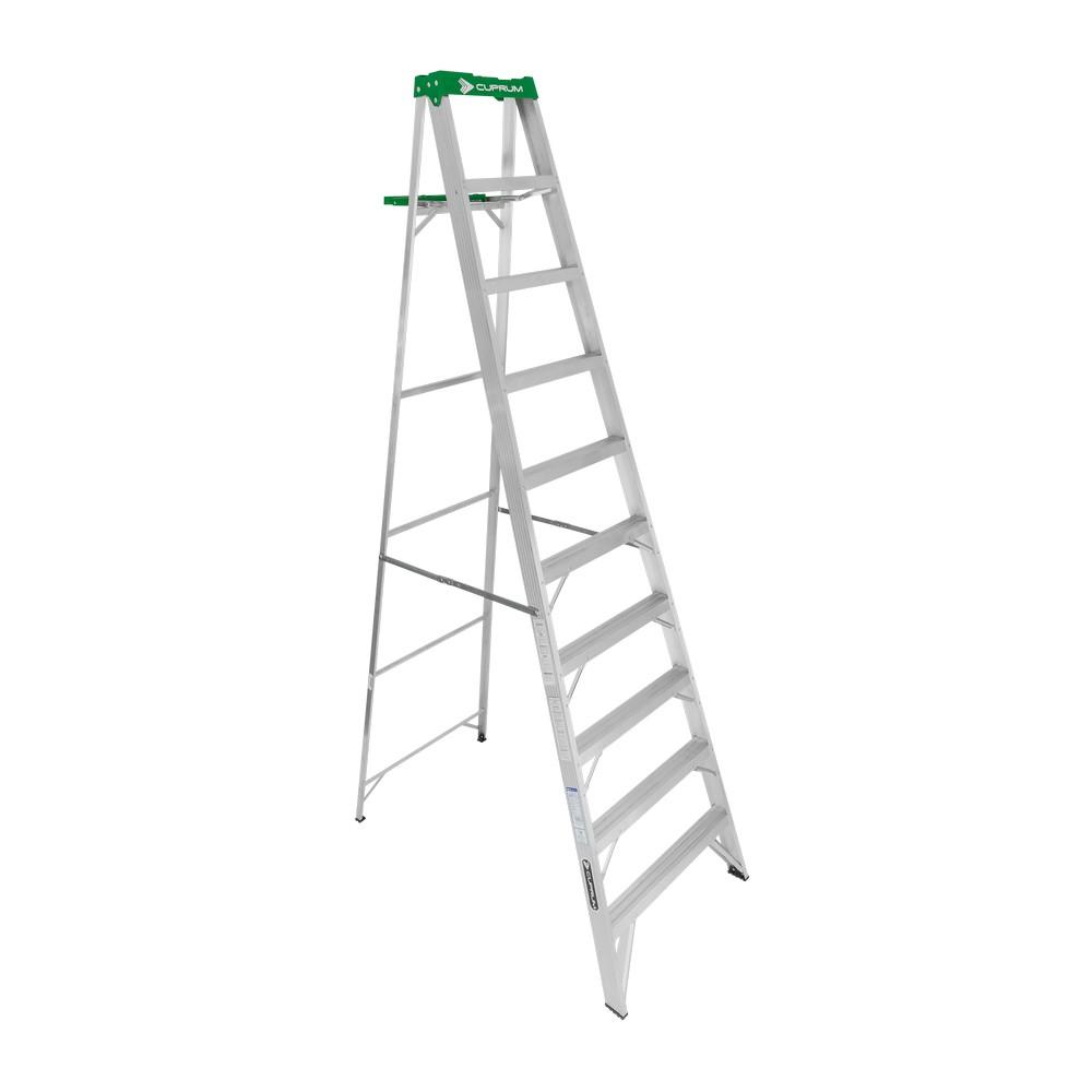 Escalera de aluminio de tijera de 10 pies de largo tipo ii for Escaleras 10 peldanos de tijera