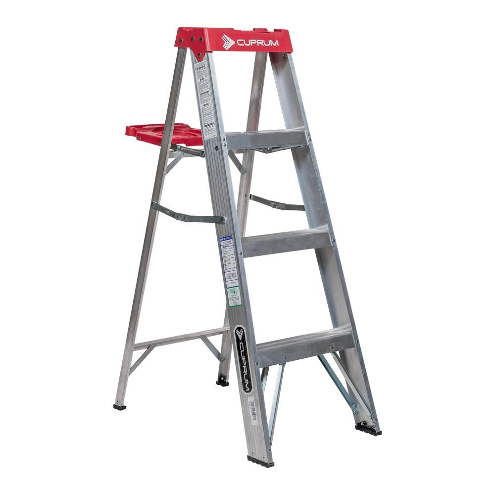escalera de aluminio de tijera de 4 pies de largo