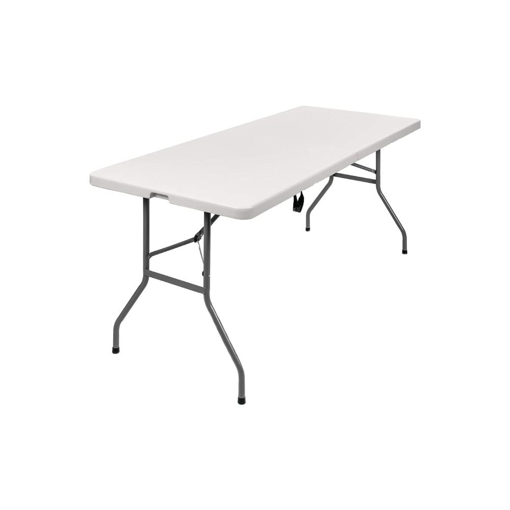 Mesa plastica plegable articulada 6 pies