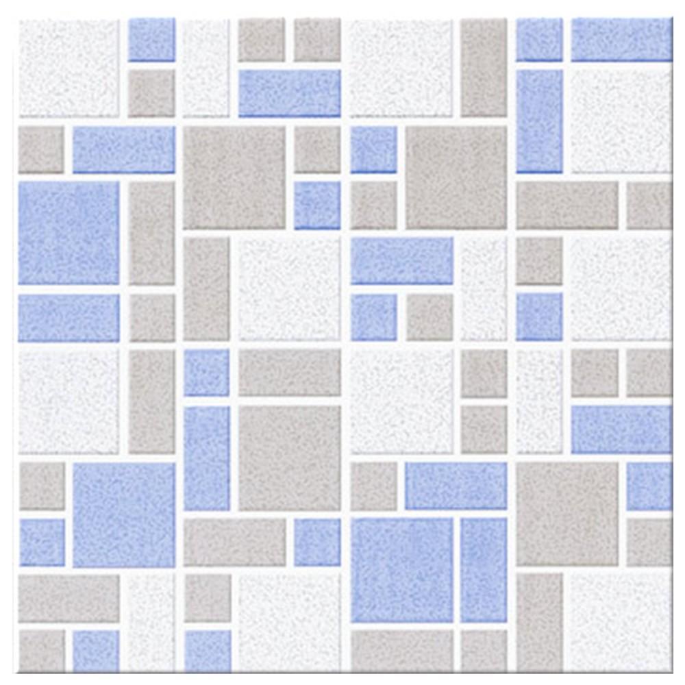 Cer mica antideslizante mosaico azul para piso 33x33 for Ofertas de ceramicas para piso